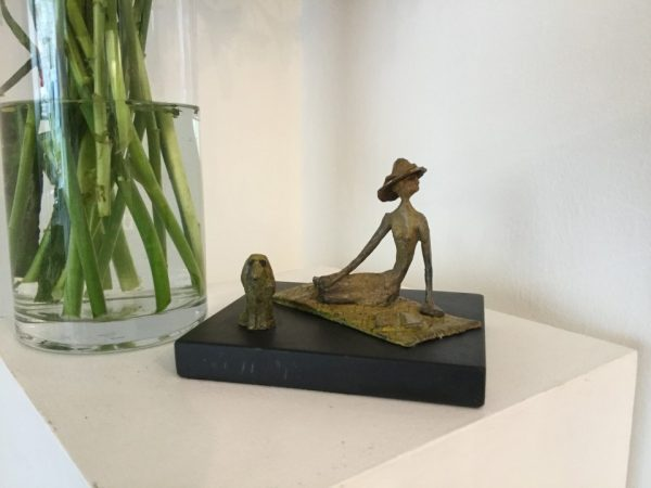 Helen and Jack ed 4 of 10 bronze and slate H 11cm, W 15cm, D 14cm Gall P £650