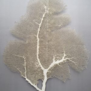 Losing the Thread 73x60cm silver leaf, pins, silk Gall P £2600