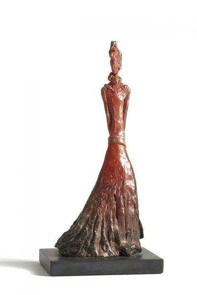 Miss D ed 4 of 10 bronze, slate, gold leaf H 35cm,W 14cm, D 16cm Gall P £1,910