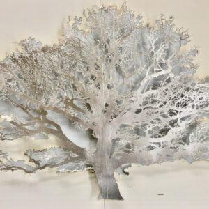 Silver Tree 55x70cm lasercut paper, silver leaf , entomology pins Gall P £2600
