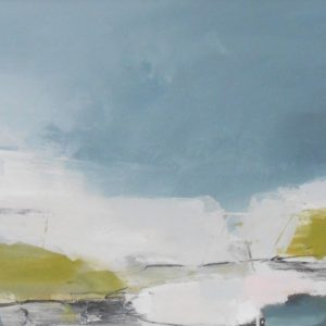Approaching Spring 40x80cm charcoal, ink and acrylic on board Gall P £895