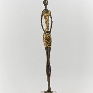 Mint Julep bronze stone gold leaf H 53cm W 8cm D 8cm Gall P £3500