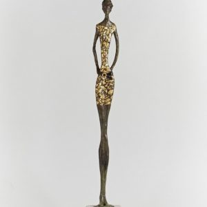 Mint Julep front bronze stone gold leaf H 53cm W 8cm D 8cm Gall P £3500