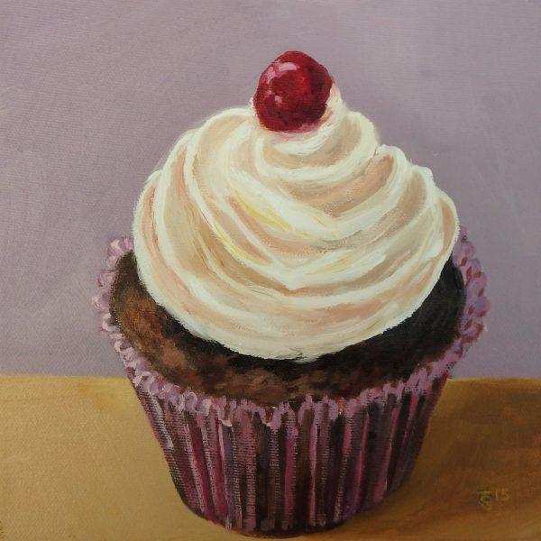 Cherry cup cake 20x20cm