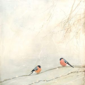 Jane Skingley, Dawn Chorus, oil on board, 60x60cm