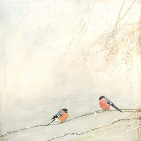 Jane Skingley, Dawn Chorus, oil on board, 60x60cm