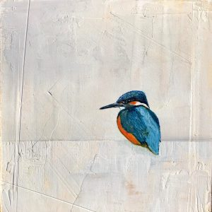 Jane Skingley, Kingfisher, oil on board, 30x30cm