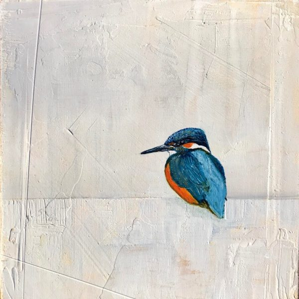 Jane Skingley, Kingfisher, oil on board, 30x30cm