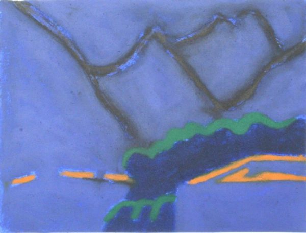 Night Mountains 31x41cm Carborundum Gall P £540