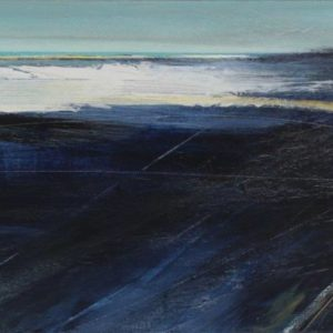 Darkness Falls 40x90cm mixed media on canvas Gall P £1,095