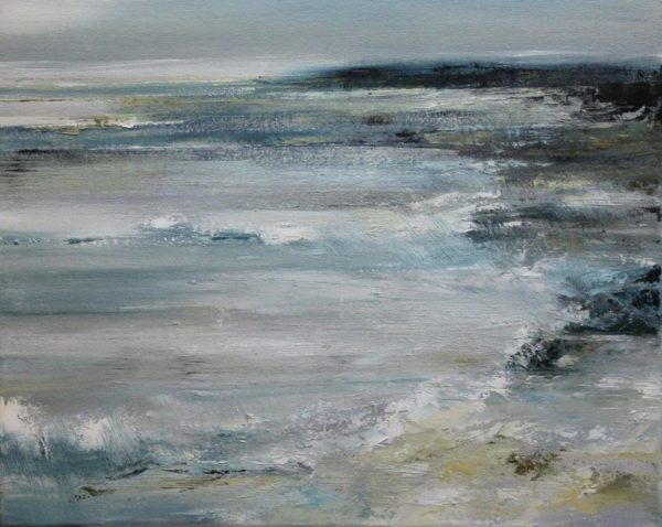 Gentle Tides 40x50cm mixed media on canvas framed Gall P £895