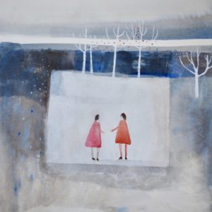Julie Collins The Gift, 73x71cm, image size 45x41cm, acrylic& watercolour £1350