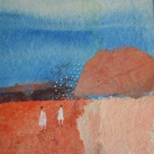Julie Collins, Great Toller Summer, acrylic & watercolour, framed, 30x30x3cm, 0.3, £450, signed