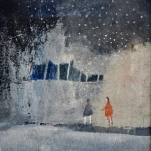 Julie Collins, Great Toller Winter, acrylic&watercolour, framed, 30x30x3cm, 0.3, £450, signed