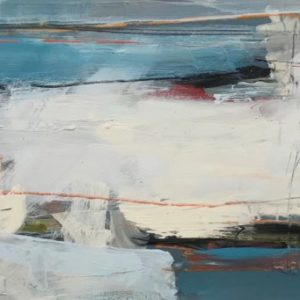 Here and Now I 41x108cm oil + mixed media on board Gall P £2,200