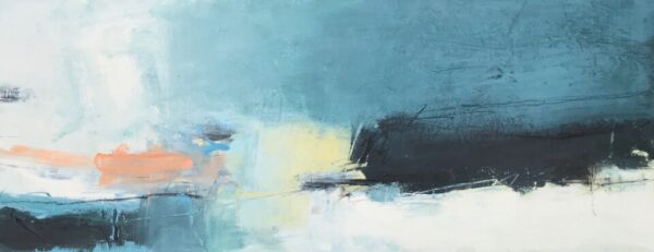 Bold Coast II, 31cm x 76cm, mixed media on canvas