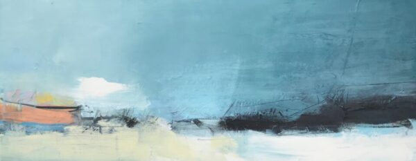 Bold Coast II, 31cm x 76cm, mixed media on canvas