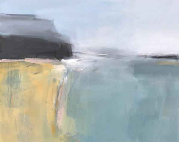 Bright Coast, 60.5cm x 76cm, charcoal and acrylic on canvas