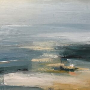 Spring Beach, 28cm x 37cm, acrylic on boar, £625