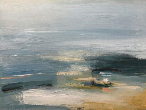 Spring Beach, 28cm x 37cm, acrylic on boar, £625