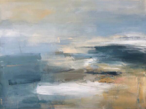 Sun, Sand, Sea, 91cm x 121cm, acrylic on canvas £3500