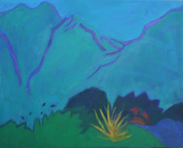 Below the Mountains 60x80cm oil on canvas Gall P £1,800
