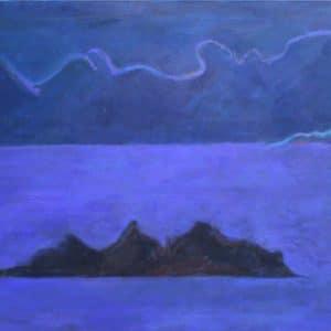 Leda's Rock 66x91cm oil on canvas Gall P £1,900