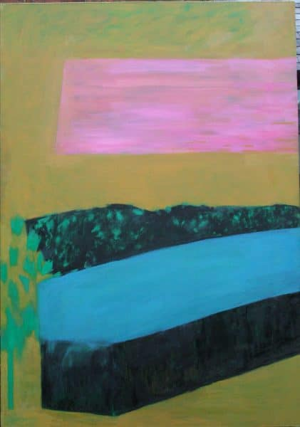 Trailer, Turquoise Cover 154x108cm oil on canvas Gall P £3,500