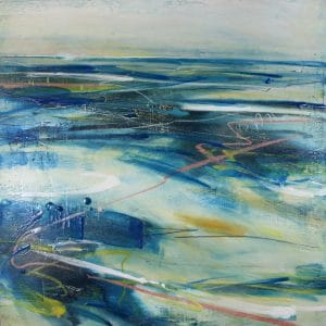 In the Moment 50x50cm encaustic wax on wood panel Gall P £895