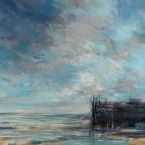 Late Summer Skies 91x122cm mixed media on canvas Gall P £2,650