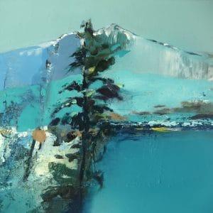 fir tree with blue